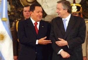 <hr><h2><u>HUGO CHÁVEZ EN ARGENTINA </h2></u>