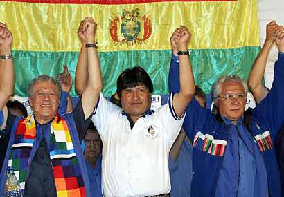 <h1><hr><u>EVO: BOLIVIA Y CHILE</h1></u>